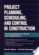 Project Planning  Scheduling  and Control in Construction