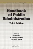 Handbook of Public Administration, Third Edition