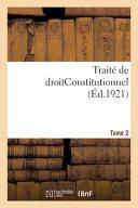 Trait De Droitconstitutionnel Tome 2
