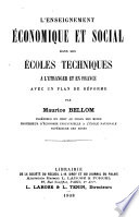 L enseignement   conomique et social dans les   coles techniques a l   tranger et en France