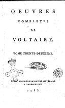 Oeuvres complètes de Voltaire, tome 32 - dictionnaire philosophique, tome 3