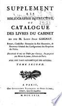 Bibliographie Instructive  Ou  Traite de la Connoisance de Livres Rare Et Singuliers