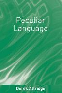 download ebook peculiar language pdf epub