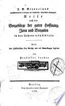 Reise nach dem Vorgebürge der guten Hoffnung ... 1768 - 1771
