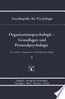 Organisationspsychologie Grundlagen Und Personalpsychologie