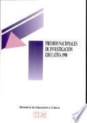 Premios Nacionales de Investigación Educativa 1998