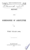 Report Of The Commissioner Of Agriculture For The Year ... : ...