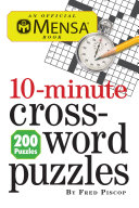 Mensa 10 Minute Crossword Puzzles A Few Minutes To Spare