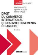 Droit Du Commerce International Et Des Investissements Trangers