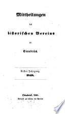 Mittheilungen des Historischen Vereins zu Osnabrück