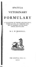 Spatula Veterinary Formulary