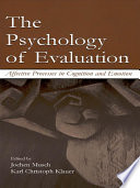 The Psychology of Evaluation