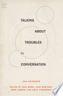Ebook Talking about Troubles in Conversation Epub Gail Jefferson Apps Read Mobile