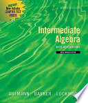 Intermediate Algebra with Applications  Multimedia Edition