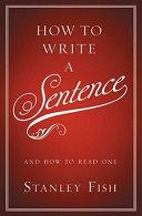 How to Write a Sentence Pdf/ePub eBook