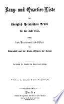 Rang- und Quartier-Liste der Königlich-Preußischen Armee und des XIII. (Königlich-Württembergischen) Armeekorps0
