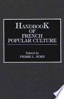Handbook of French Popular Culture