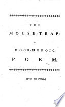 The Mouse Trap  a Poem     Made English by S  Cobb  A New Edition