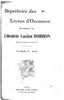 R  pertoire des livres d occasion en vente    la librairie Lucien Dorbon      S Z