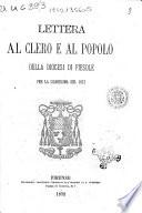 Lettera al clero e al popolo della diocesi di Fiesole per la quaresima del 1872