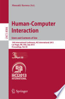Human-Computer Interaction: Users and Contexts of Use