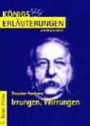 Erl  uterungen zu Theodor Fontane  Irrungen  Wirrungen