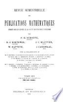 Revue Semestrielle Des Publications Mathematiques