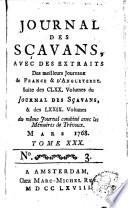 Journal des sçavans, avec des extraits des meilleurs journaux de France et d'Angleterre