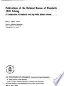 Publications of the National Bureau of Standards     Catalog