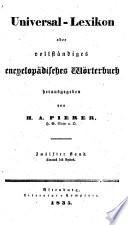 Universal-Lexicon, oder vollständiges encyclopädisches Wörterbuch