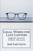 Legal Words for Lazy Lawyers