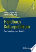 Handbuch Kulturpublikum