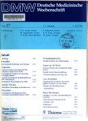 Deutsche medizinische Wochenschrift