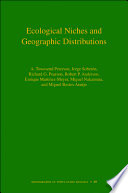 Ecological Niches and Geographic Distributions  MPB 49