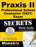 Praxis II Professional School Counselor 5421 Exam Secrets