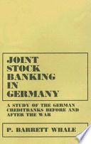 Joint Stock Banking in Germany