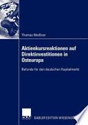 Aktienkursreaktionen auf Direktinvestitionen in Osteuropa