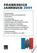 Frankreich Jahrbuch 2001