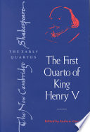 The First Quarto Of King Henry V book