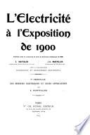 L   lectricit      l Exposition de 1900