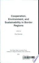 Cooperation  Environment  and Sustainability in Border Regions