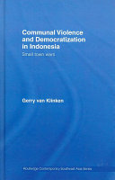 Communal violence and democratization in Indonesia