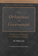 The Ordinance of Government (Al-Ahkam al –Sultaniyah w'al Wilayat al-Diniyya) Sampul Buku