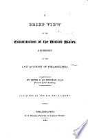 A Brief View of the Constitution of the United States