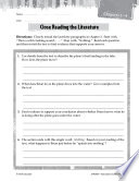 Hatchet Close Reading and Text Dependent Questions