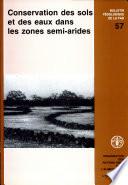 Conservation des sols et des eaux dans les zones semi arides
