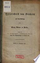 Verzeichniß von Büchern aus dem Verlage von Georg Reimer in Berlin