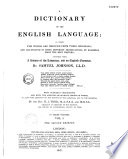 Dictionnary of the English Language with Numerous Corrections and with the Addition of Several Thousand Works and Also with Addition to the History of the Language and to the Grammar by H J  Todd