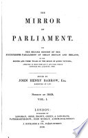 The Mirror Of Parliament : ...