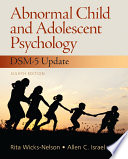 Ebook Abnormal Child and Adolescent Psychology with DSM-V Updates Epub Rita Wicks-Nelson Apps Read Mobile